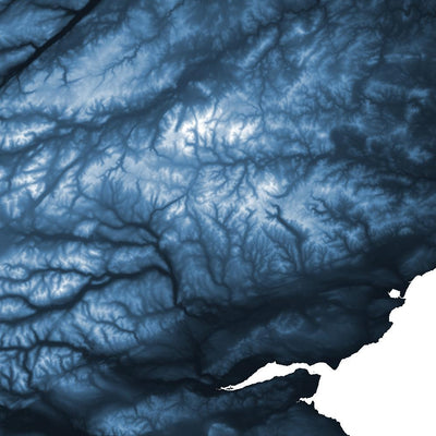 Scotland Map Midnight Blue-Topographic Map