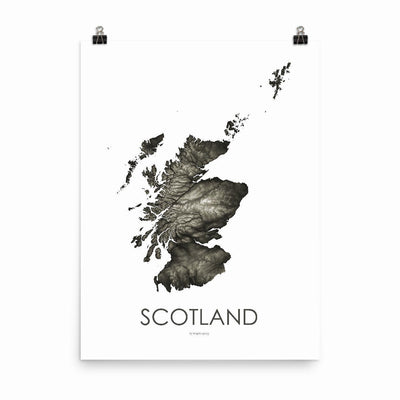 "Scotland Poster Slate-18""×24"" - 45.72cm x 60.96cm-topographic wall art map by MapScaping"
