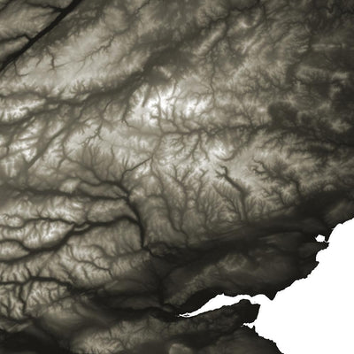 Scotland Map Slate-Topographic Map