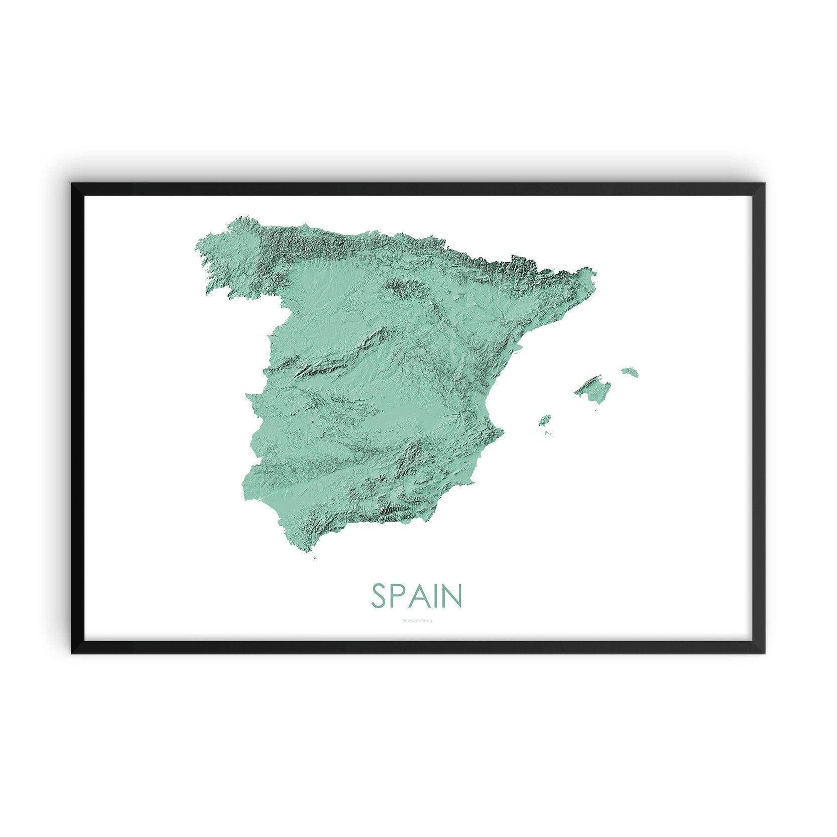 3d Map Of Spain.Spain Map 3d Mint