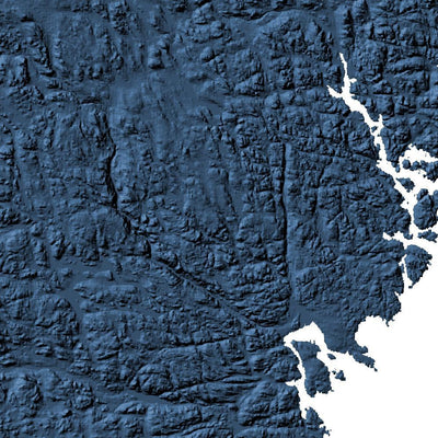 Sweden Poster 3D Midnight Blue-topographic wall art map by MapScaping