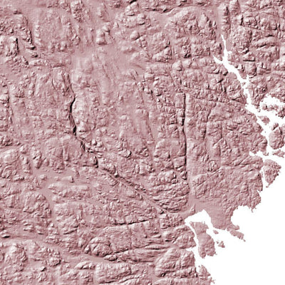 Sweden Poster 3D Rose-topographic wall art map by MapScaping
