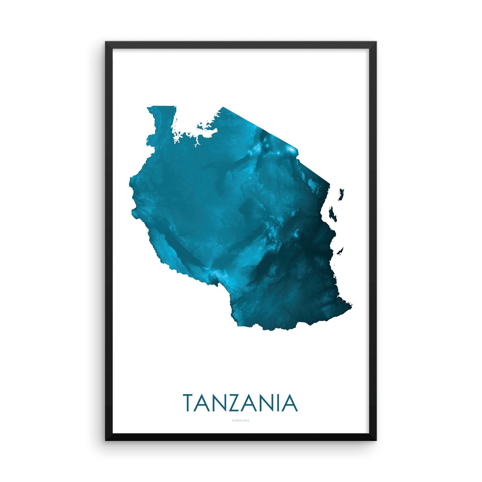 Tanzania Map Petroleum Blue
