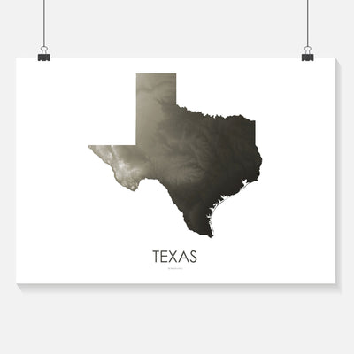 Texas Map Slate-Topographic Map