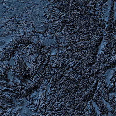 USA Poster 3D Midnight Blue-topographic wall art map by MapScaping