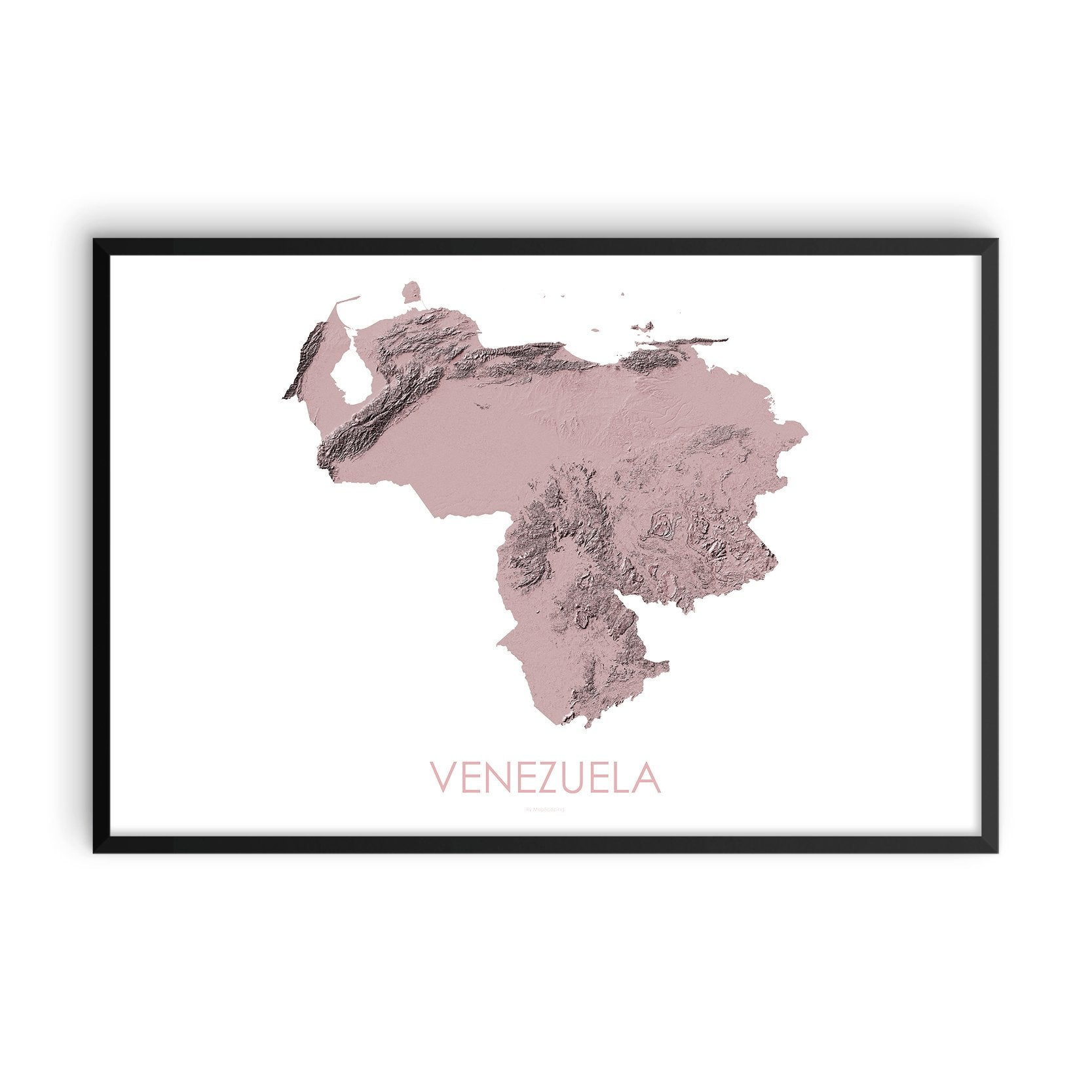 Venezuela Map 3D Rose-Topographic Map