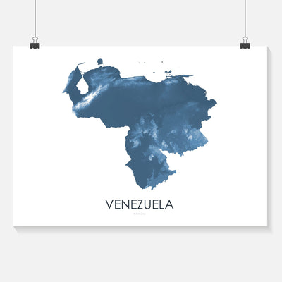 Venezuela Map Midnight Blue-Topographic Map