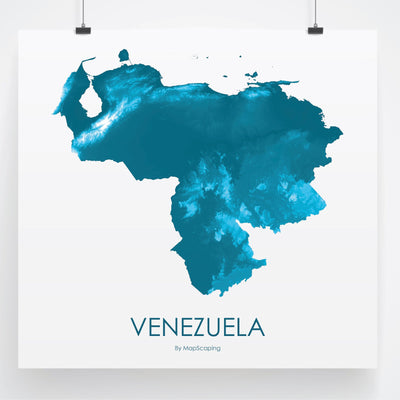 Venezuela Map Petroleum Blue-Topographic Map