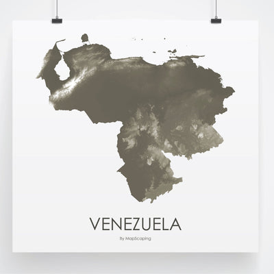 Venezuela Map Slate-Topographic Map