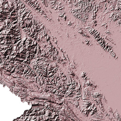 Vietnam Map 3D Rose-Topographic Map