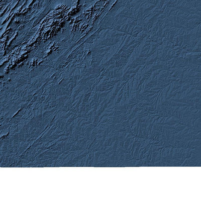 Virginia Map 3D Midnight Blue