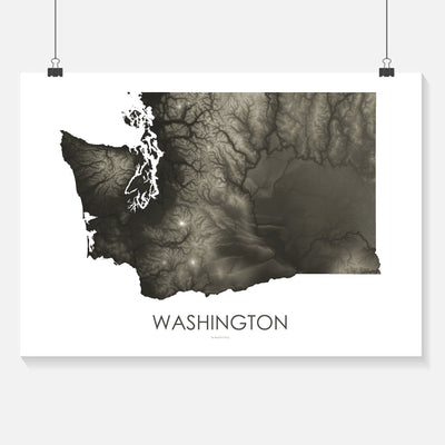 Washington Map Slate-Topographic Map
