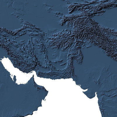 World Map 3D Midnight Blue
