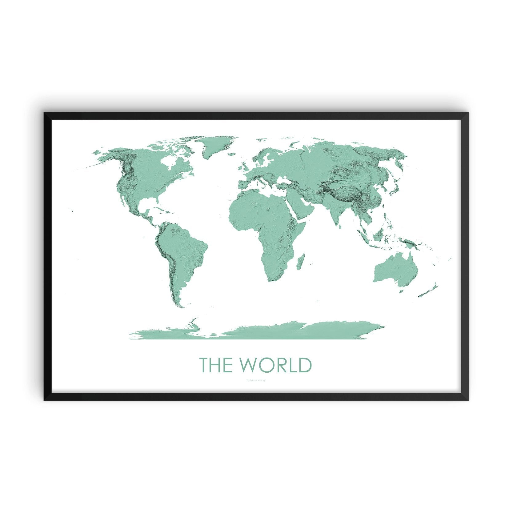 World Map 3D Mint