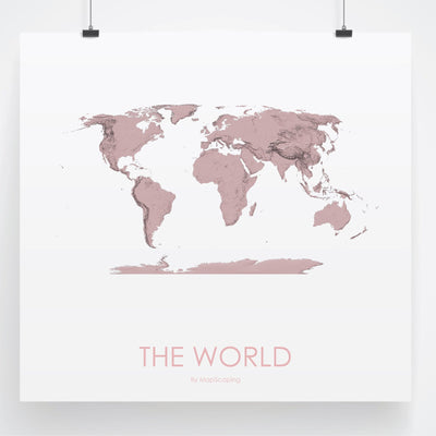 World Map 3D Rose