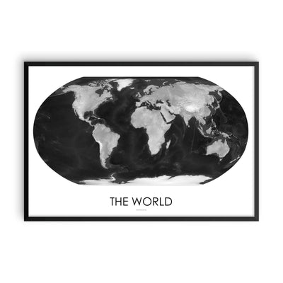 World Map Gray Scale