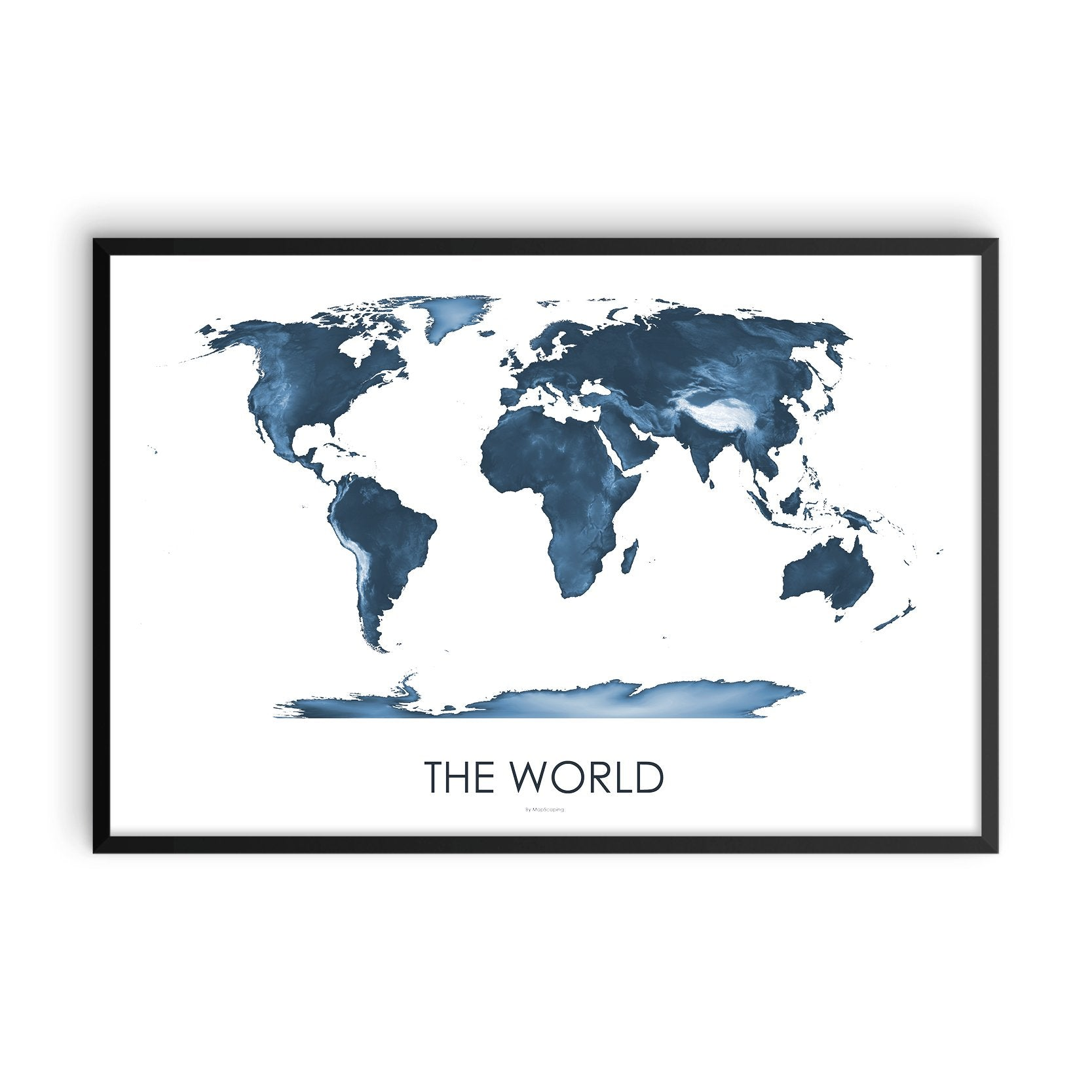 World Map Midnight Blue
