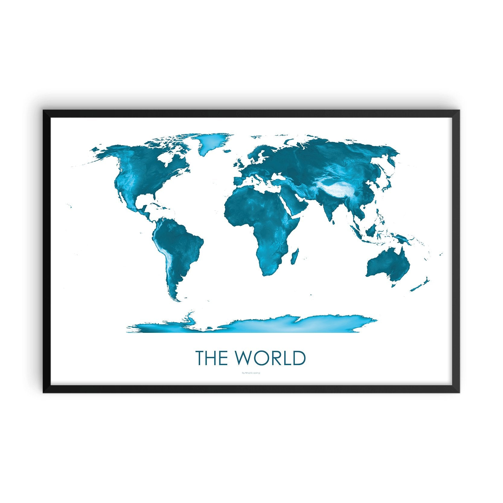 World Map Petroleum Blue