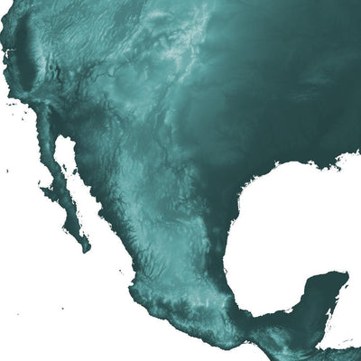 zoomed in image showing the topographic detail of the north america landscape