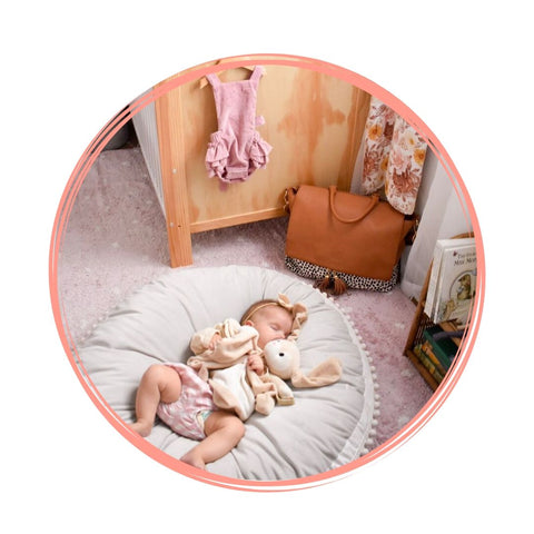 My Little Joy Floor Cushion Nursery Alf the Label Tan Spot Ari