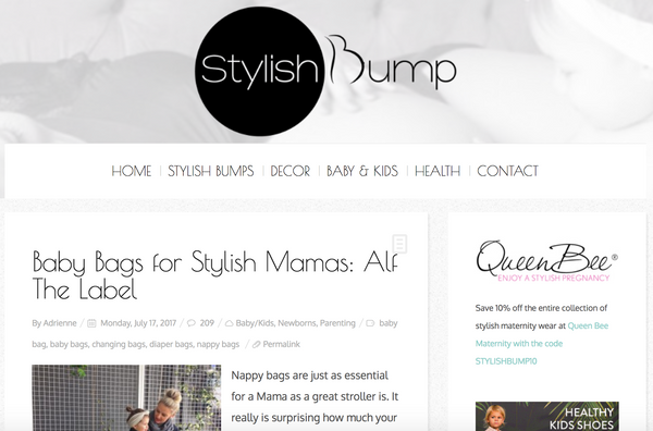 Stylish bump Alf the Label Review Ari
