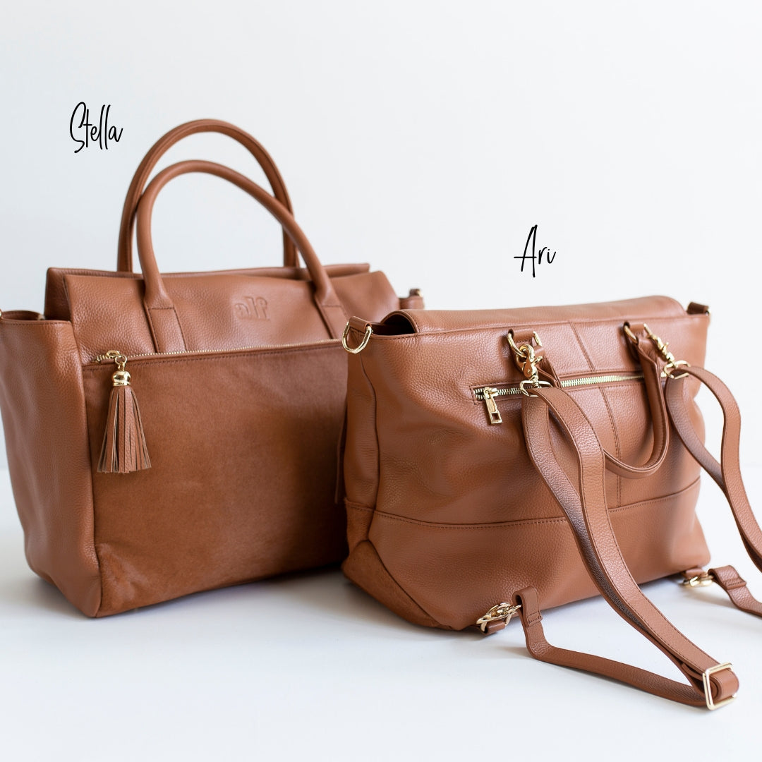 The Ari - 3 Way Backpack: All Tan