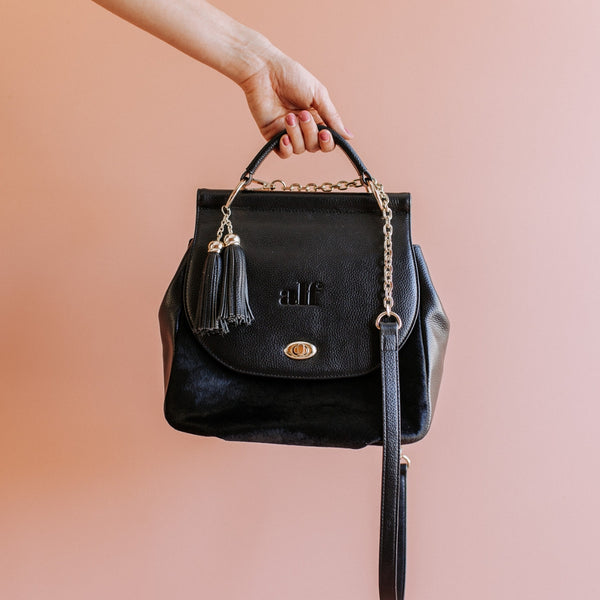 The Muriel - 3 Way Backpack: All Black