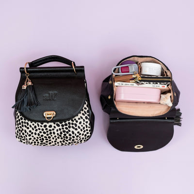 The Muriel - 4 Way Backpack: Black Spot [Perfectly Imperfect #2]