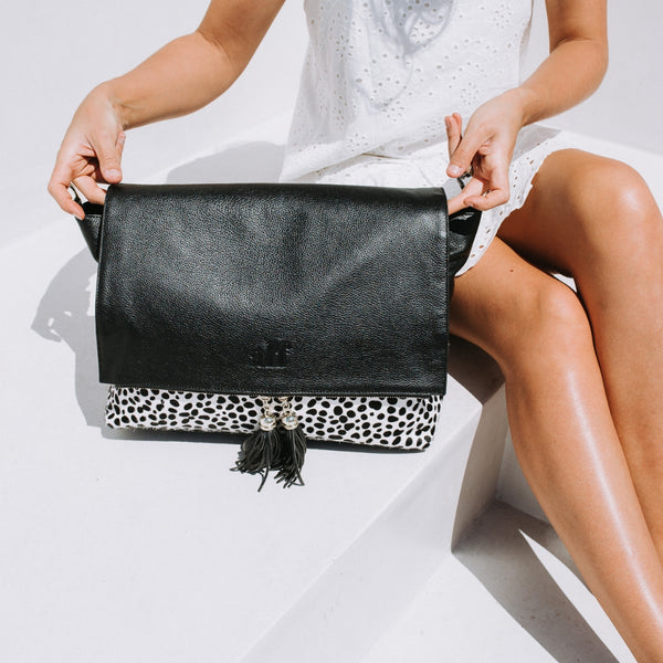 The Ari - 3 Way Backpack: Black Spot