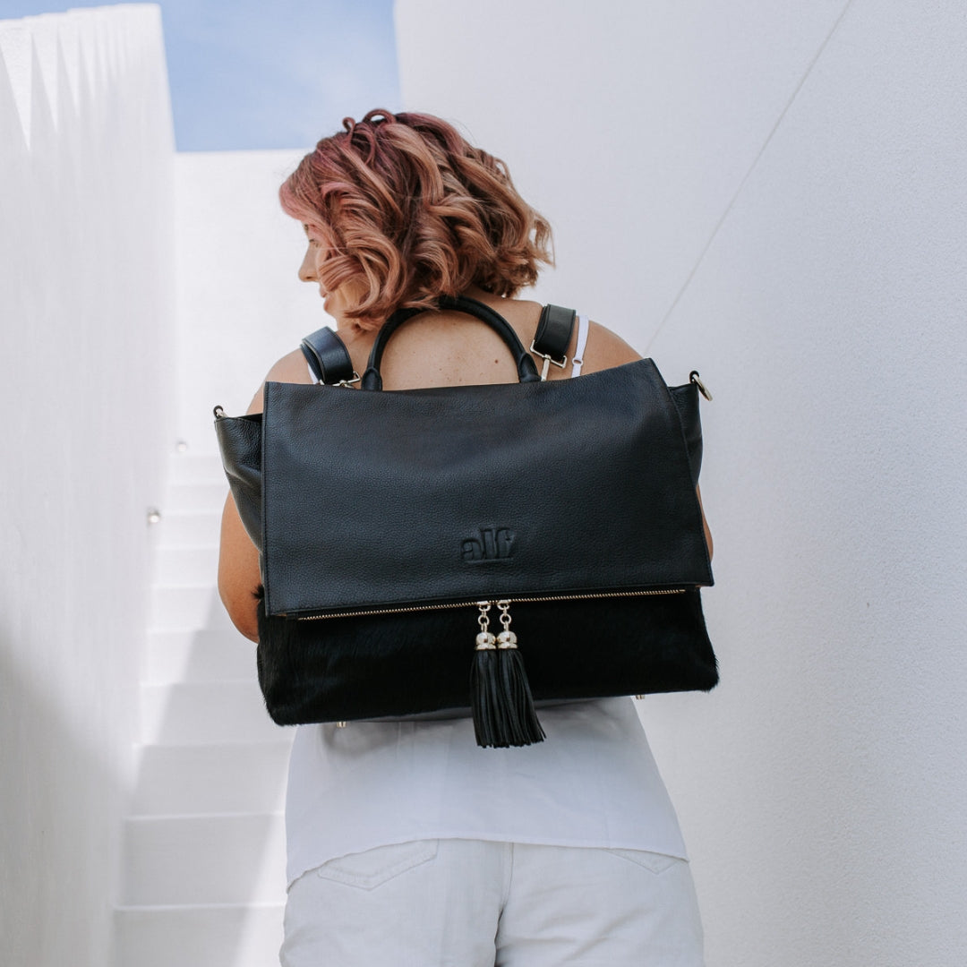 The Ari - 4 Way Backpack: All Black