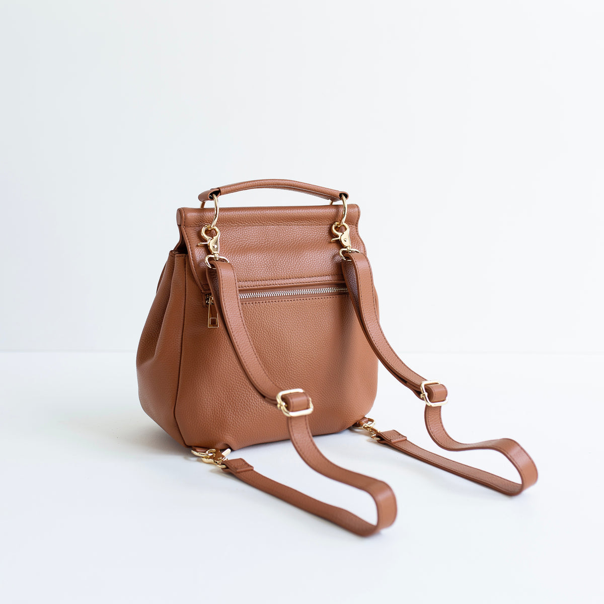 The Muriel - 4 Way Backpack: All Tan