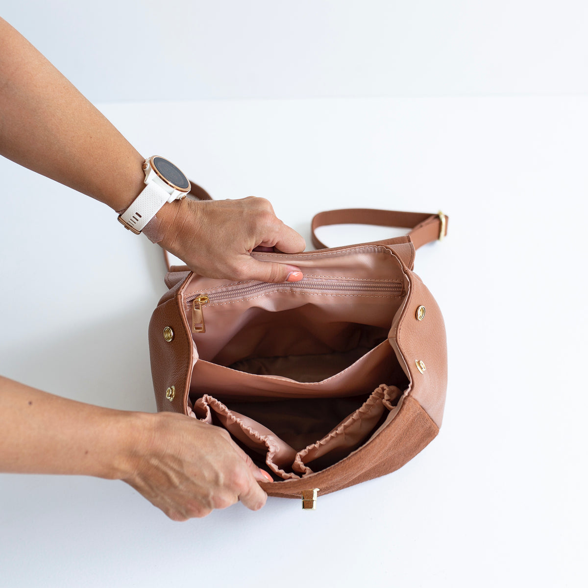 The Muriel - 3 Way Backpack: All Tan