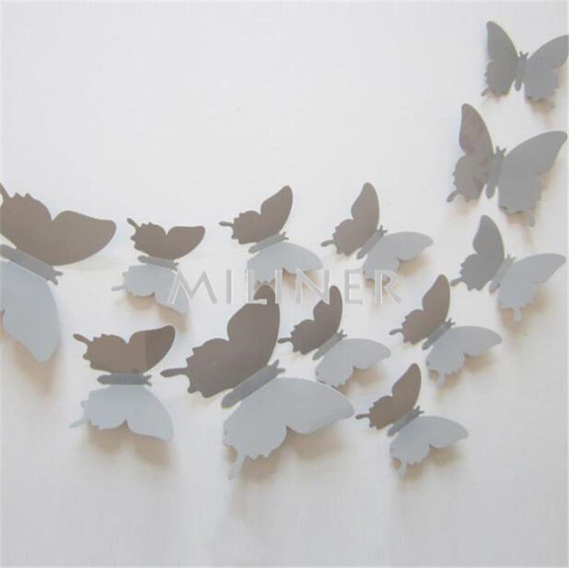 Superb ... 3D Butterfly Wall Decor (12pcs/set) ...