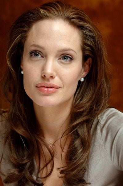 SHOP LUXY THEORY Celebrity Style: 10-11mm White South Sea Pearl Stud Earrings with Silver Overtone As Seen On Angelina Jolie