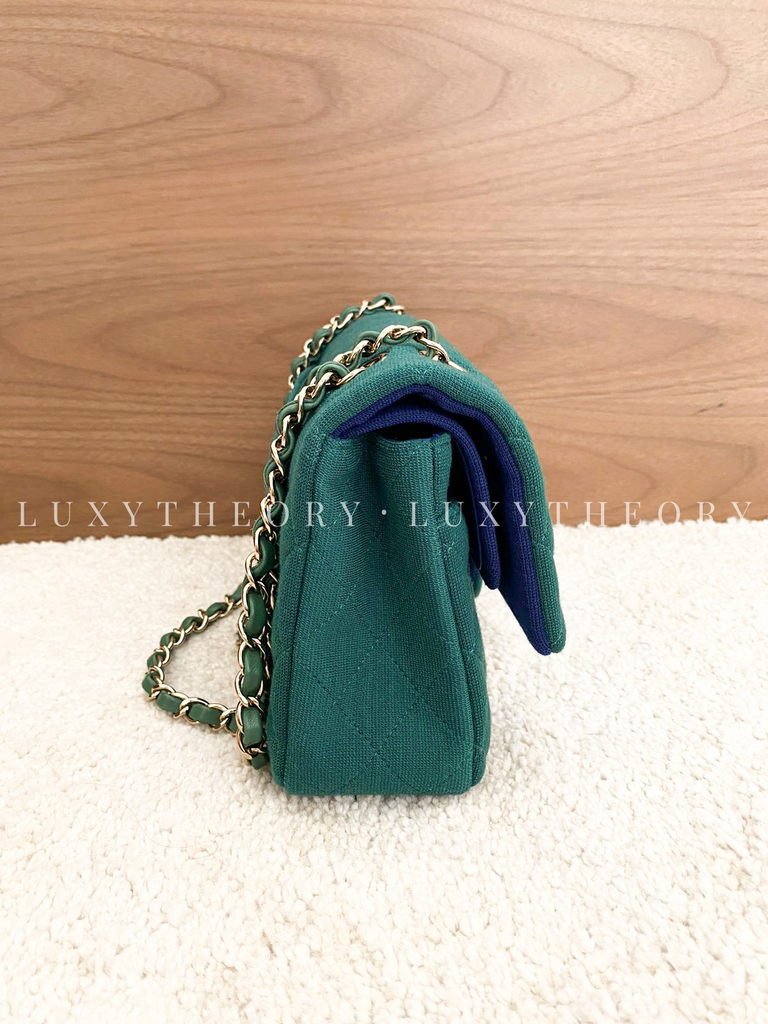 CHANEL CLASSIC FLAP BAG - GREEN/BLUE