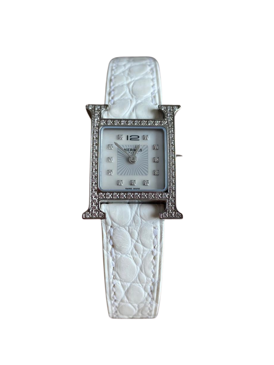 Hermes Heure H Alligator American Watch