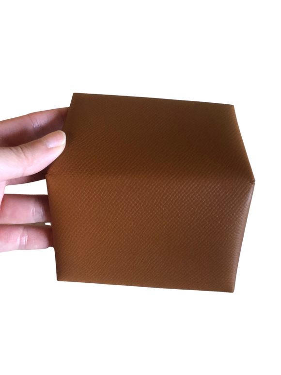 Hermes Epsom Calfskin Gold Calvi Card Holder