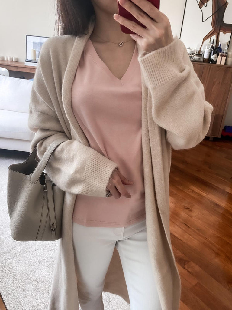 Jolly pink v-neck top