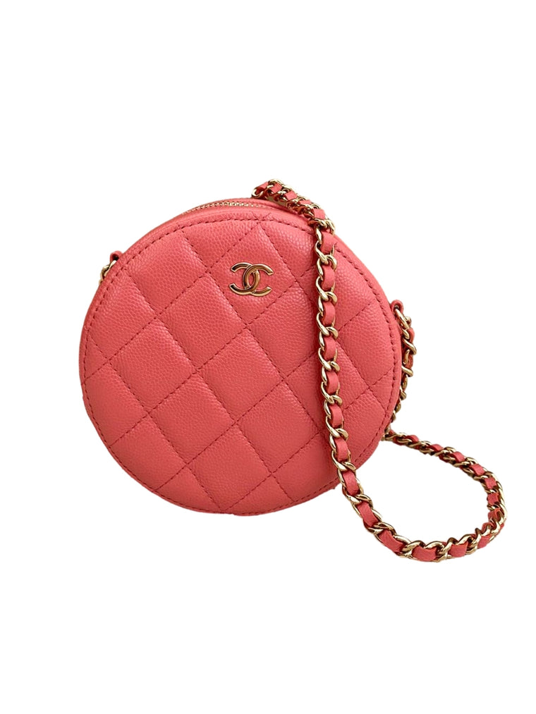 CHANEL ROUND MINI CLUTCH WITH CHAIN - PINK