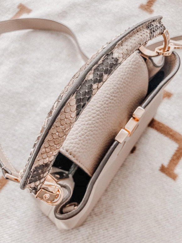 LOUIS VUITTON CAPUCINES BB BAG with Python Handle