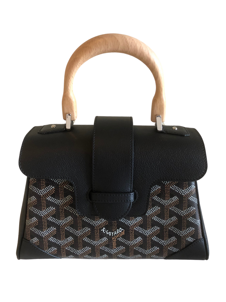 Goyard Goyardine Mini Saigon in Black on Black