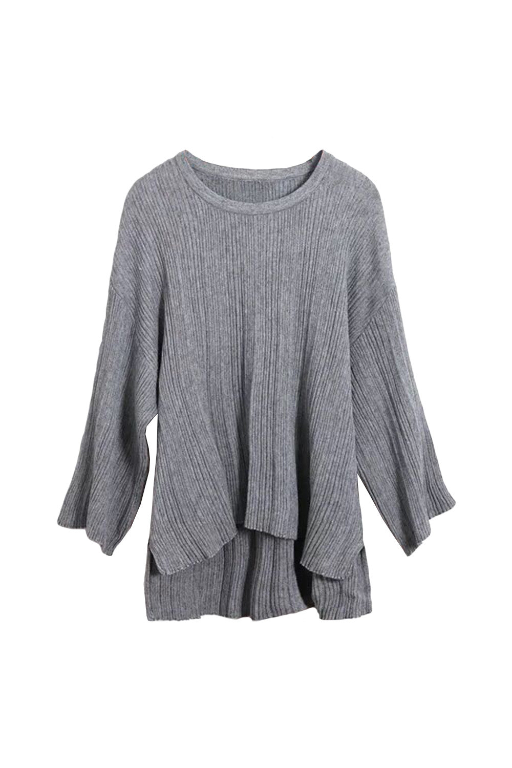 Lofty Knit Draped Sweater