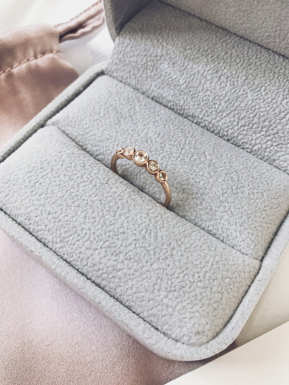 18K Rose Gold Bezel-set Diamond Ring