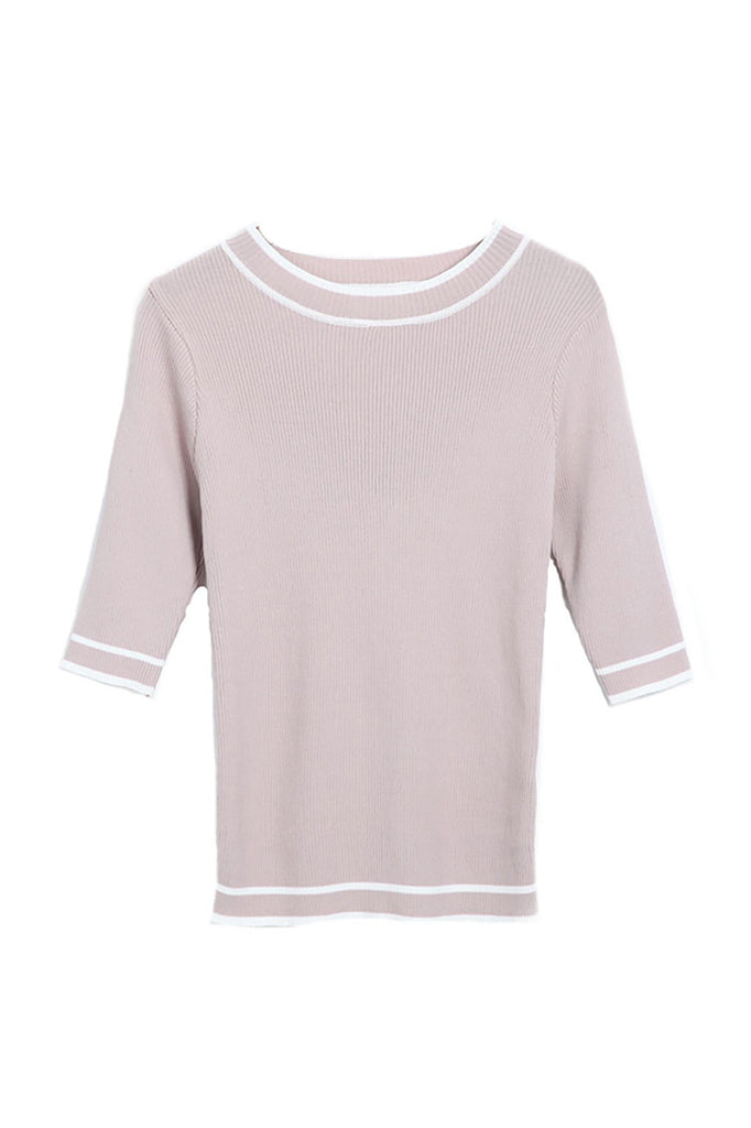 Dust Pink Round Neck Sweater