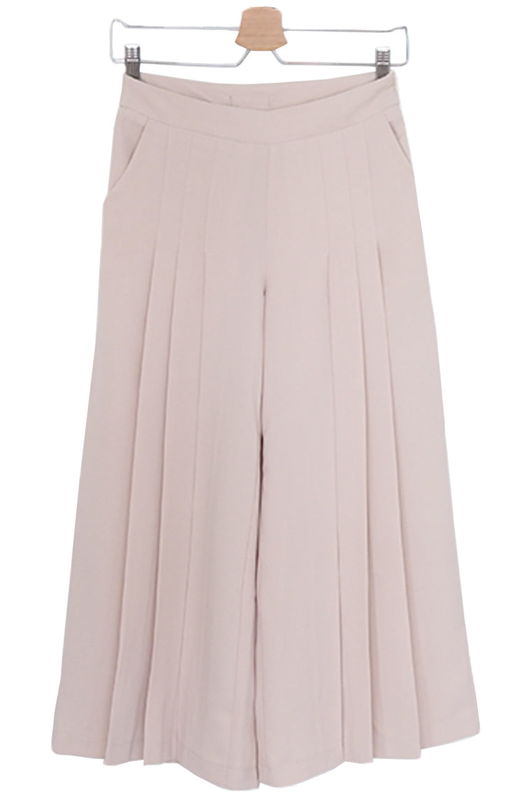 Blush Pink Pleated Trousers