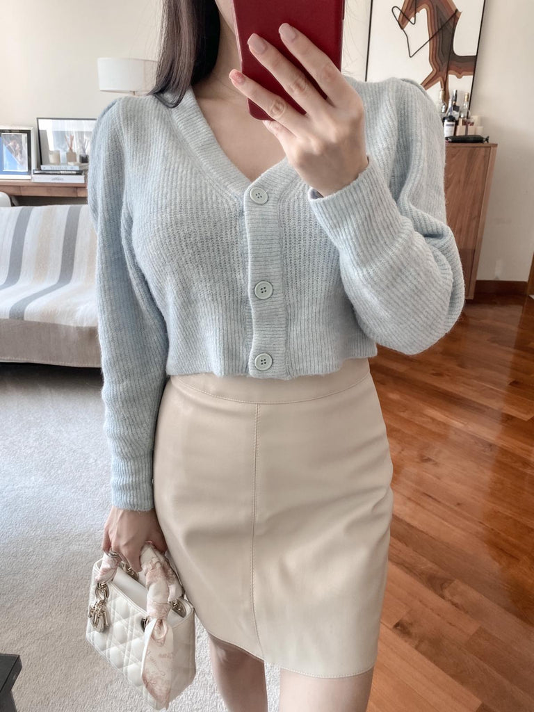 Angel beige faux leather mini skirt