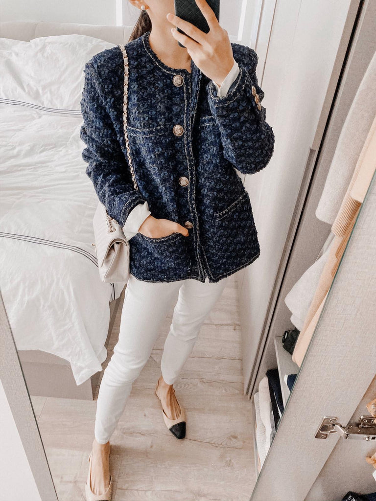 Serina blue tweed jacket