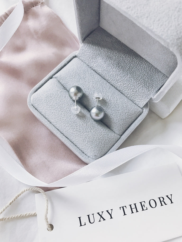 Signature Grey Tahitian Pearl Stud Earrings - Luxy Theory