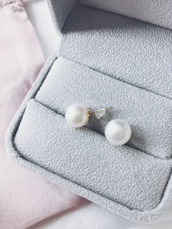 Signature 11-12mm Flawless White South Sea Pearl Stud Earrings