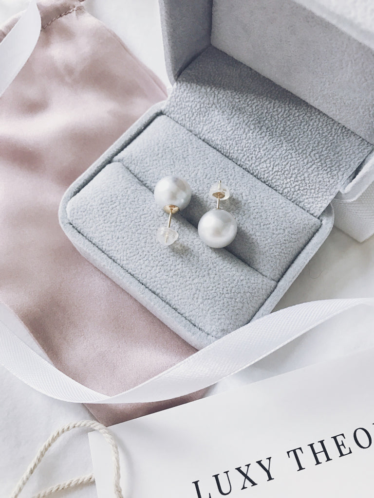 AAA Grade Cream Tone South Sea Pearl Stud Earrings